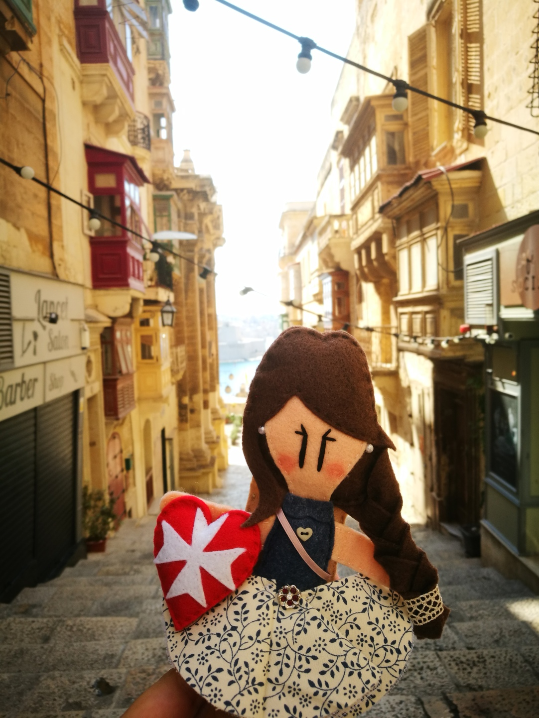 Maltese doll around La Valletta